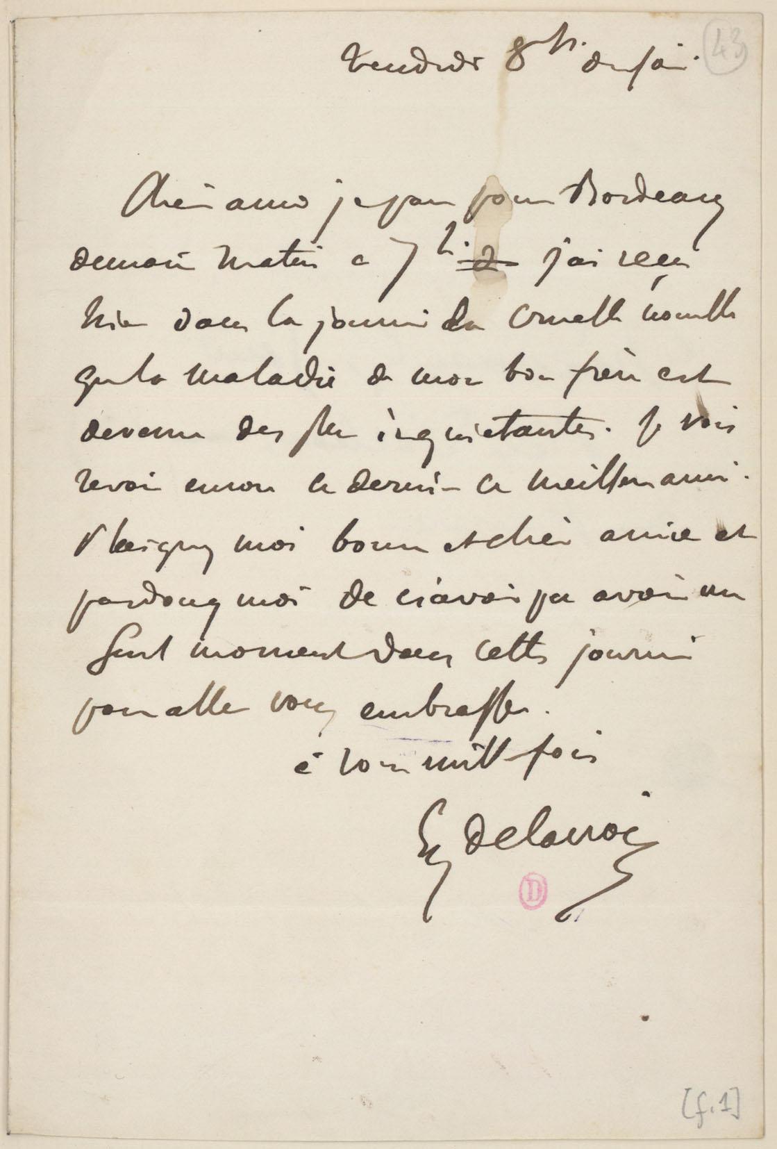 george sand lettre Fiche   Lettre à George Sand, 26 décembre 1845   Correspondances  george sand lettre