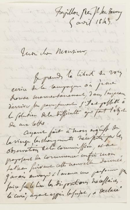 fiche lettre augustin varcollier 5 avril 1843 correspondances correspondances d eug ne. Black Bedroom Furniture Sets. Home Design Ideas